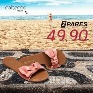 2 pares de sandálias por R$ 50