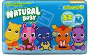 Fraldas Natural Baby Backyardigans Premium M - 32 Unidades - R$ 9