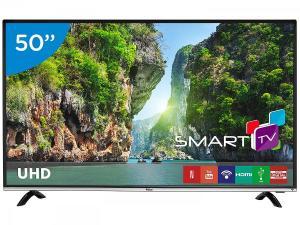 "Smart TV LED 50"" Philco 4K/Ultra HD PTV50F60SN - Conversor Digital Wi-Fi 3 HDMI 1 USB - Bivolt - R$ 1899"