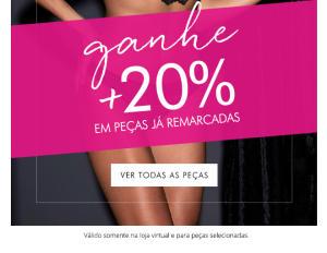 Night Sale da Loungerie - 20% OFF extra em peças já com desconto