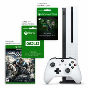 Xbox One S 1TB 3 meses de Gold & 3 meses de Gamepass com Kit Exclusivo Amazon - R$1476