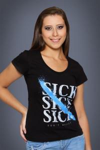 Camiseta Sick, Sick, Sick - preta   R$35