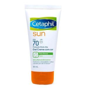 Protetor Solar Facial Cetaphil Sun Com Cor FPS70 Ultra Matte 50ml - R$47