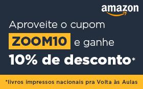 Cupom de 10% em livro impressos da Amazon