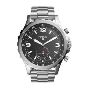 Relógio Híbrido Smartwatch Fossil Q Nate Masculino Prata Analogico FTW1123/1KI - R$524