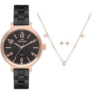 Relógio Technos Feminino 2035MMU K4P + Colar + Brincos R 199   Pelando 021b5b7be0