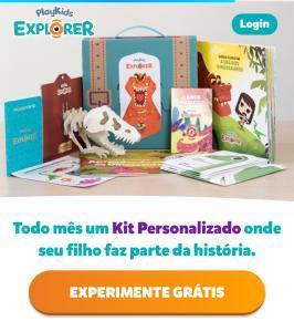 Caixinha de Leitura PlayKids Explorer - 1º mês grátis