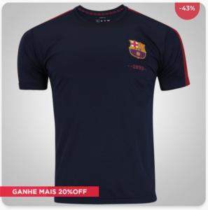 Camiseta Barcelona Fardamento Class - Masculina- R$ 35,99