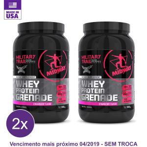Kit 2x Whey Protein Grenade Military Trail 900g por R$ 56