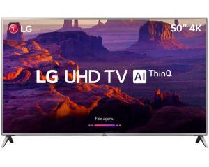 """[APP] Smart TV LED 50"""" LG 50UK6510 Ultra HD 4k com Conversor Digital 4 HDMI 2 USB por R$ 2170"""