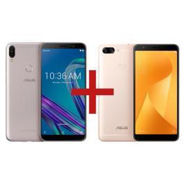 Zenfone Max Pro (M1) 3GB/32GB Prata + Zenfone Max Plus (M1) 3GB/32GB Dourado - R$1.699