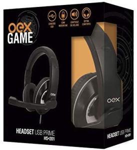Headset Gamer Fone C/ Microfone E Controle Volume Oex Hs201
