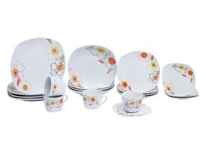 Aparelho de Jantar 20 Peças Aparelho de Jantar - Quadrado Porcelana Sofie por R$ 161