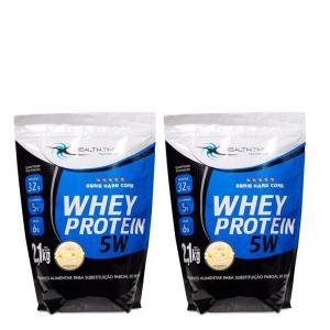 [R$47,47 com AME] Kit Whey Protein 4,2kg - Health Time - Baunilha [1ª COMPRA pro cupom]