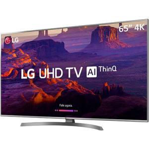 [Cartão Submarino] Smart TV LED 65'' Ultra HD 4K LG 65UK6530 IPS ThinQ AI HDR10 Pro - R$ 4299