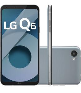 """[Cartão Submarino] Smartphone LG Q6 Dual Chip Android 7.0 Tela 5.5"""" Full Hd+ Octacore 32GB 4G Câmera 13MP - Platinum"""