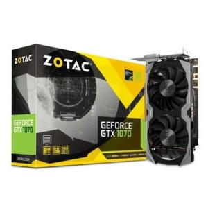 Placa de Vídeo VGA Zotac NVIDIA GeForce GTX 1070 8GB GDDR5 - ZT-P10700G-10M - R$1600