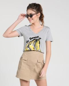 Camiseta Go Bananas - cinza | R$20