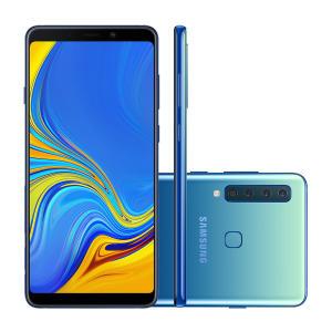 "Samsung Galaxy A9 128GB Azul 4G Tela 6.3"" Câmera 24MP Selfie 24MP Dual Chip Android 8.0"