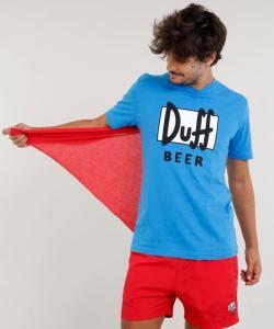 Camiseta masculina carnaval Duff