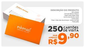 250 Cartões de Visita - R$ 9,90