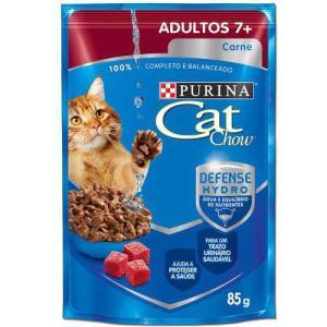 Ração Nestlé Purina Cat Chow Adultos 7+ Sachê Carne ao Molho - 85 gr - R$0,99 - 33%off - FG Prime