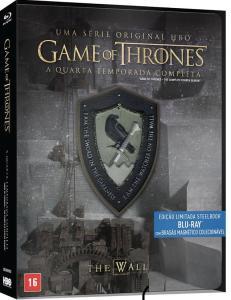 Blu-Ray Steelbook Game Of Thrones - 4ª Temporada Completa + Brasão Magnético Colecionável - R$60