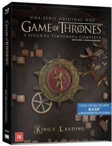 Blu-Ray Steelbook Game Of Thrones - 2ª Temporada Completa + Brasão Magnético Colecionável - R$60