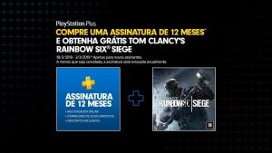 Na compra da assinatura de 12 meses da PSN receba Rainbow Six