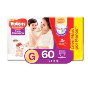 Fralda Huggies Turma da Mônica Roupinha Supreme Care Tamanho G - 60 Unidades - R$41