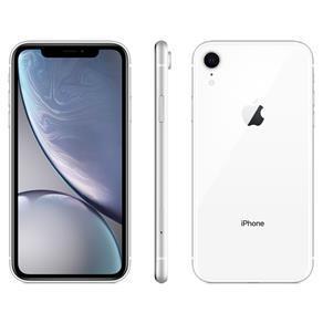 """iPhone XR Apple com 64GB, Tela Retina LCD de 6,1"""", iOS 12, Câmera Traseira 12MP, Resistente à Água e Reconhecimento Facial – Branco - R$3759"""