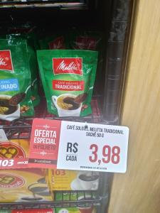 [Verdemar - BH] Café Solúvel Melita Tradicional Sachê 50g - R$4