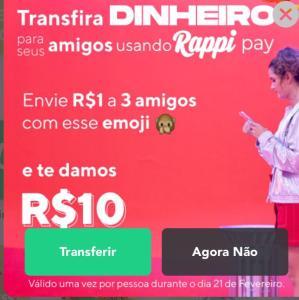 Ganhe R$10 no Rappi pay