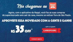 R$35 off na primeira compra no Carrefour [Rappi]