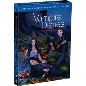 Box The Vampire Diaries: Love Sucks - A Terceira Temporada Completa (5 DVDs)   R$12
