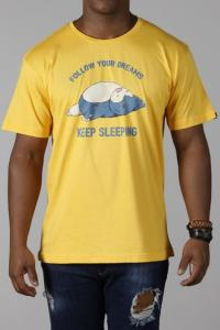 Camiseta  Follow Your Dreams - amarela   R$34