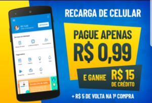[Novos Usuários] 15 reais em recarga por R$ 0,59