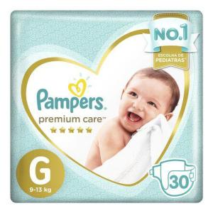 Fralda Pampers Premium Care Nova Mega Tamanho G 30 Unidades - R$40