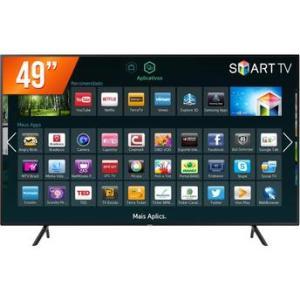 Smart TV LED 49'' Ultra HD 4K Samsung 49NU7100 HDMI USB Wi-Fi Integrado Conversor Digital