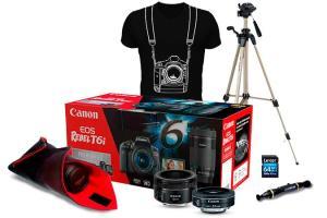 Combo EOS T6i Premium Kit com Tripé R$4.526