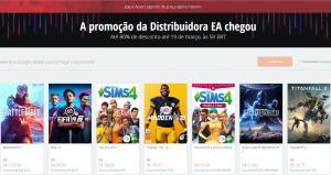 Promoção EA até 80% de desconto