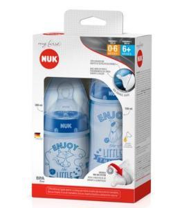 Kit de Mamadeiras Nuk My First Azul - 2 Peças | R$36