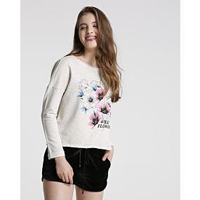 Blusa Juvenil Moletinho Flowers MISS YOUNG - R$32