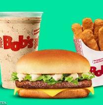Cheese Ranch P + Franlitos (6 un.) + Refil de Refri ou Milk P do Bob's por R$19,50