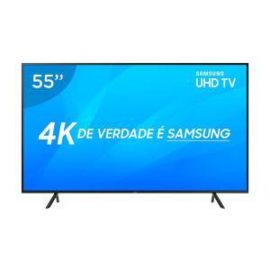 Smart Tv LED 55 Polegadas Samsung UN55NU7100GXZD Ultra HD 4K Wi-Fi 3 HDMI 2 USB - Preto | R$2576