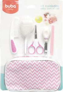 Kit Cuidados Baby com estojo - Buba - Rosa - R$50