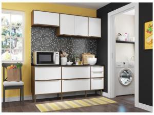 Cozinha Compacta Multimóveis New Paris 2836.925 - com Balcão 7 Portas 4 Gavetas por R$ 499
