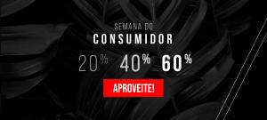 Semana do consumidor 20% 40% 60% de desconto MASH