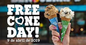 Free Cone Day - Sorvete Grátis na sorveteria benandjerry - DIA 09/04