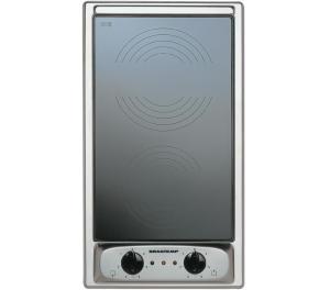 Cooktop 2 bocas elétrico dominó Brastemp Inox com mesa vitrocerâmica - BDF30AR 220V | R$959